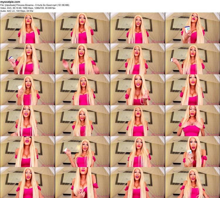 [clips4sale] Princess Breanna - It Hurts So Good (mp4, 720p, 161.86 Mb)