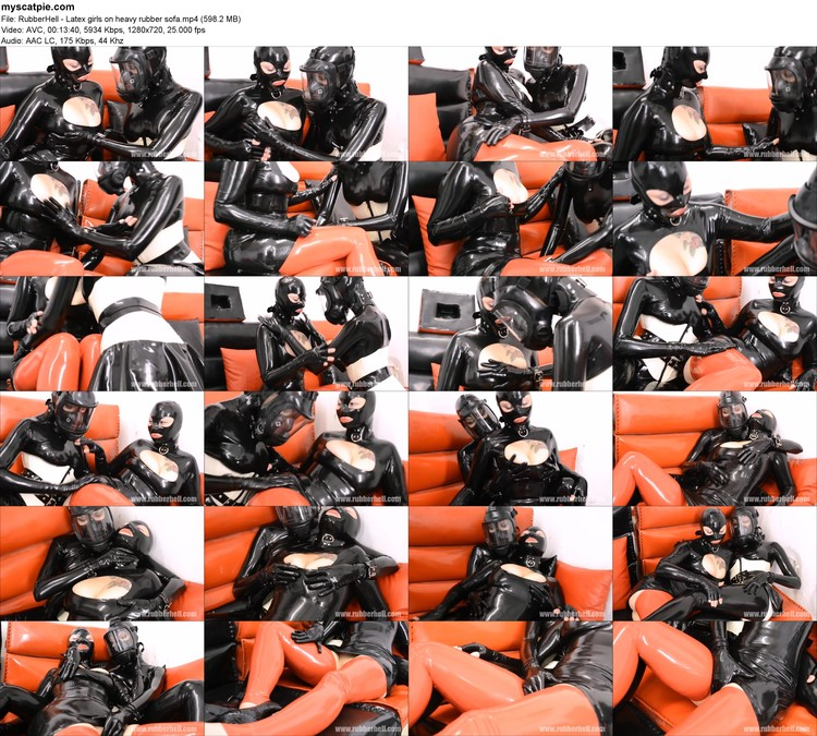 Rubberhell - Latex Girls On Heavy Rubber Sofa (mp4, 720p, 598.2 Mb)