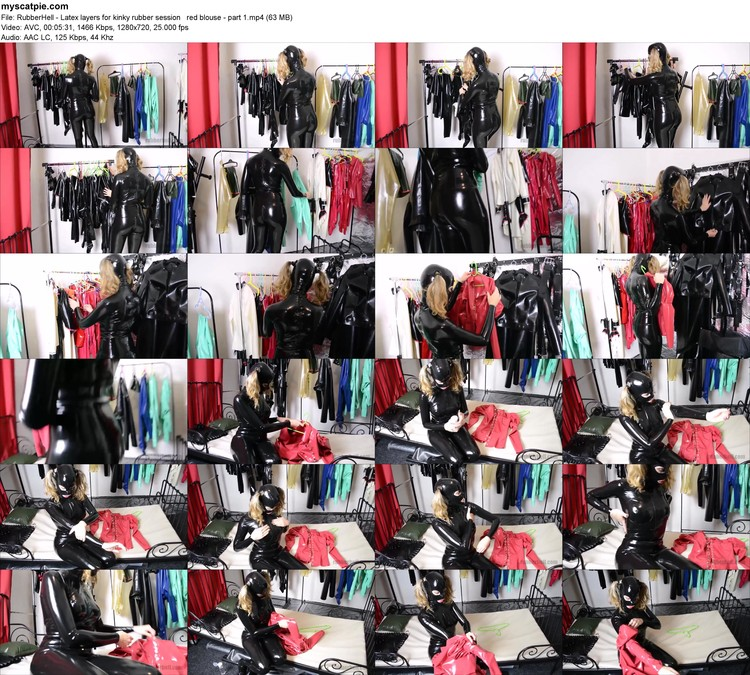 Rubberhell - Latex Layers For Kinky Rubber Session   Red Blouse - Part 1 (mp4, 720p, 63 Mb)