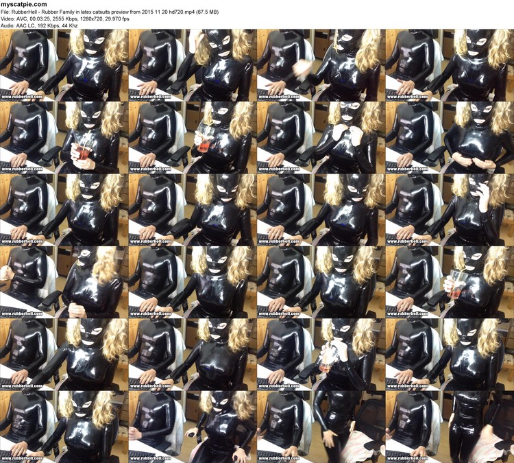 Rubberhell - Rubber Family In Latex Catsuits Preview From 2015 11 20 Hd720 (mp4, 720p, 67.5 Mb)