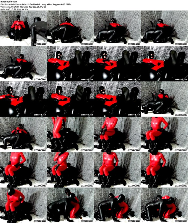 Rubberhell - Rubberdoll And Inflatable Chair - Using Rubber Doggy (mp4, 360p, 15.2 Mb)