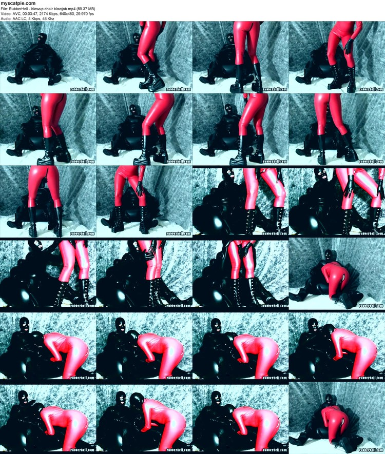 Rubberhell - Blowup Chair Blowjob (mp4, 480p, 59.37 Mb)