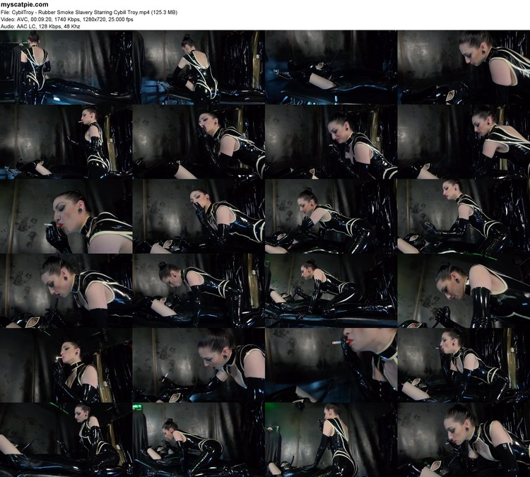 Cybiltroy - Rubber Smoke Slavery Starring Cybill Troy (mp4, 720p, 125.3 Mb)