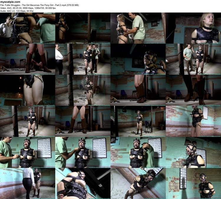 Futile Struggles - The Girl Becomes The Pony Girl - Part 2 (mp4, 720p, 576.03 Mb)