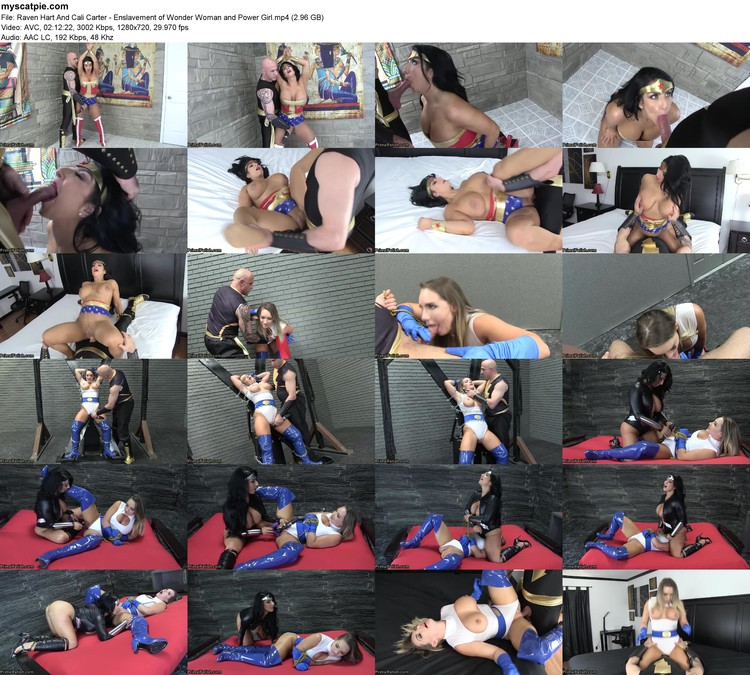 Raven Hart And Cali Carter - Enslavement Of Wonder Woman And Power Girl (mp4, 720p, 2.96 Gb)