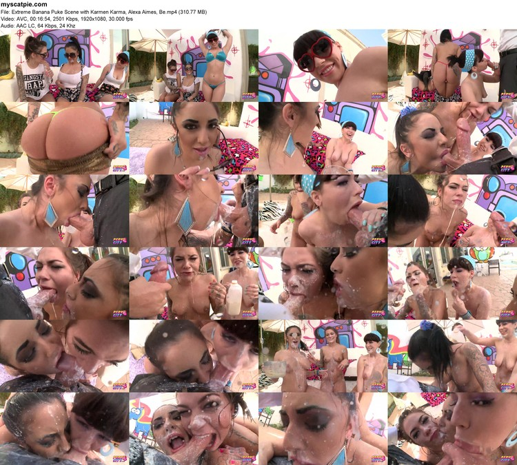 Extreme Banana Puke Scene With Karmen Karma, Alexa Aimes, Be (mp4, 1080p, 310.77 Mb)