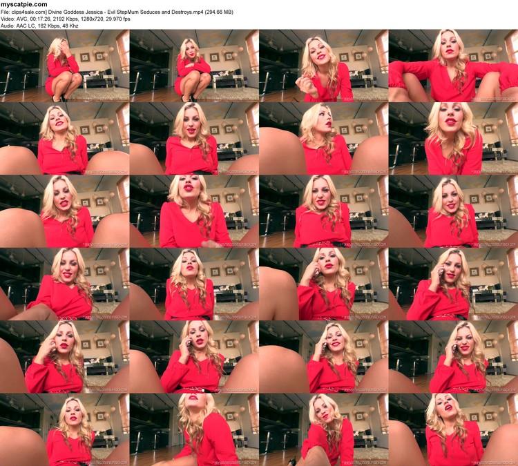 Clips4sale.com] Divine Goddess Jessica - Evil Stepmum Seduces And Destroys (mp4, 720p, 294.66 Mb)