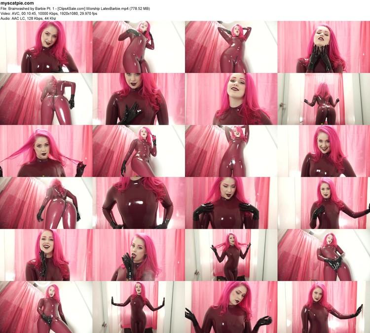 Brainwashed By Barbie Pt. 1 - [clips4sale.com] Worship Latexbarbie (mp4, 1080p, 778.52 Mb)