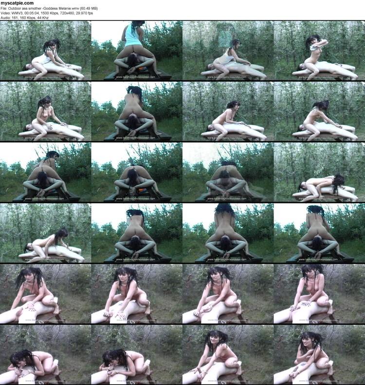 Outdoor Ass Smother -goddess Melanie (wmv, 480p, 60.49 Mb)