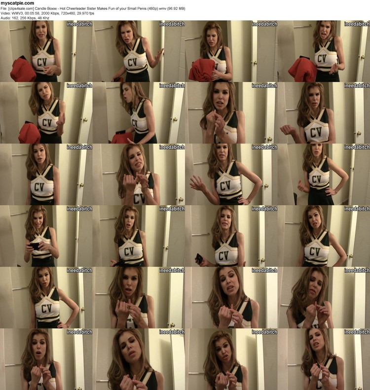 [clips4sale.com] Candle Boxxx - Hot Cheerleader Sister Makes Fun Of Your Small Penis (480p) (wmv, 480p, 96.92 Mb)