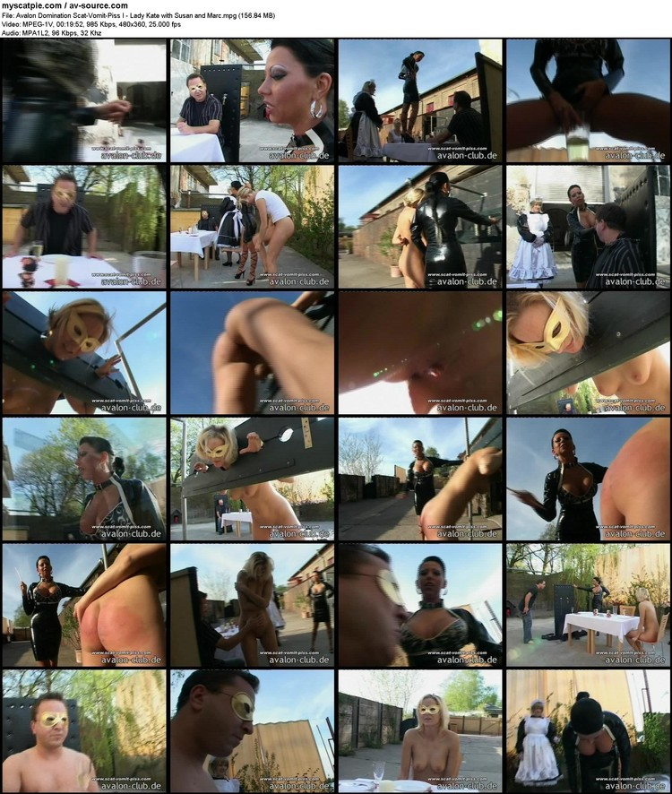 avalon Domination Scat-vomit-piss I - Lady Kate With Susan And Marc (156.84 Mb, Mpeg-1v, 360p