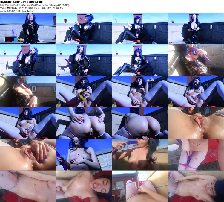 princesspuckie - Wet And Wild Puke On The Patio (1.85 Gb, Mpeg-4v, 1080p)