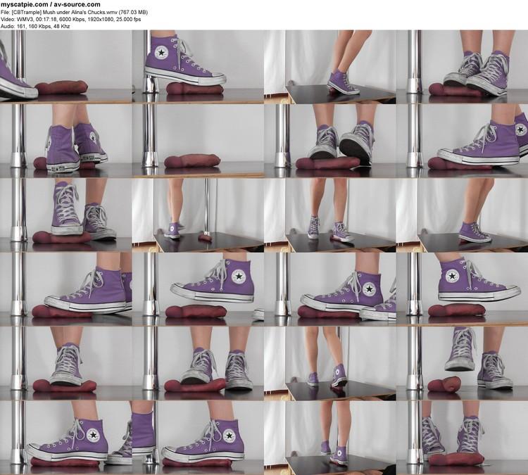 [cbtrample] Mush Under Alina's Chucks (1920x1080, 767.03 Mb, Wmv)