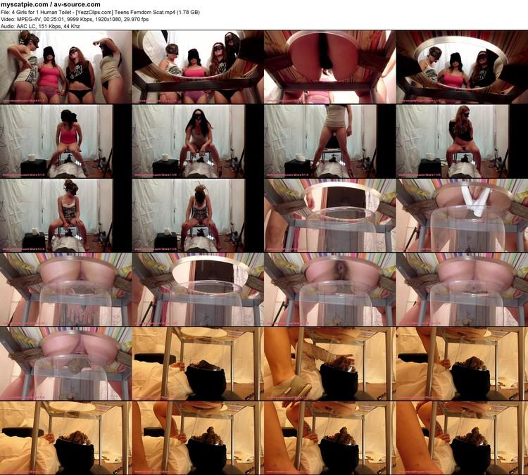 4 Girls For 1 Human Toilet - [yezzclips.com] Teens Femdom Scat (1920x1080, 1.78 Gb, Mp4)