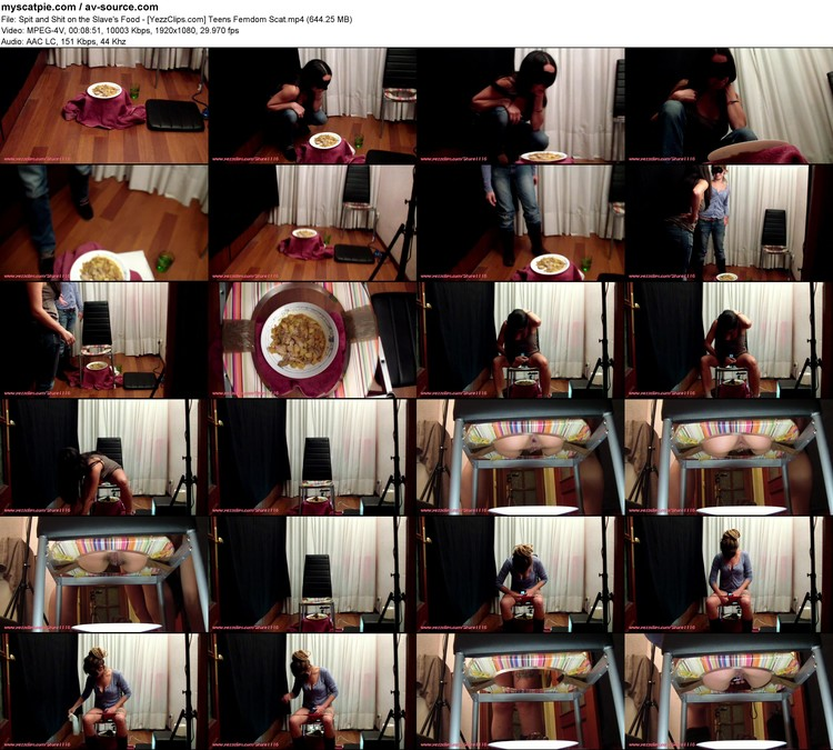 spit And Shit On The Slave's Food - [yezzclips.com] Teens Femdom Scat (644.25 Mb, Mp4, 1920x1080)