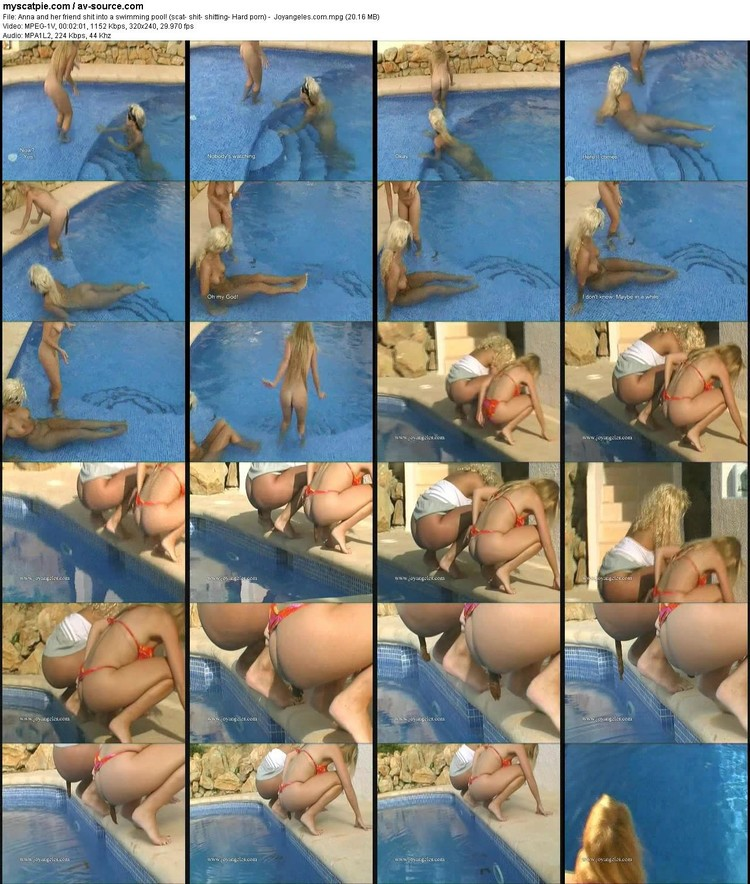 anna And Her Friend Shit Into A Swimming Pool! (scat- Shit- Shitting- Hard Porn) -  Joyangeles.com (mpeg Video, 320x240, 20.16 Mb)