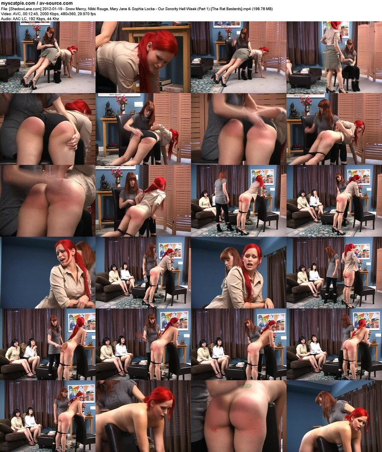 [shadowlane.com] 2012-01-19 - Snow Mercy, Nikki Rouge, Mary Jane & Sophia Locke - Our Sorority Hell Week (part 1)  (avc, 480x360, 198.78 Mb)