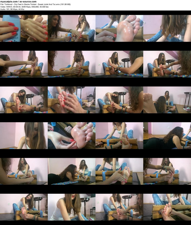 ticklenail - Oily Feet In Stocks Tickled - Sweet Juliet And Tixi (vc-1, 640x480, 191.99 Mb)